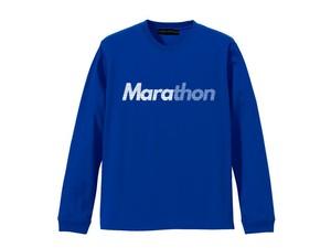 LONG SLEEVE T-SHIRT M319201-BLUE / ロンT ブルー BLUE  / MARATHON JACKSON マラソン ジャクソン