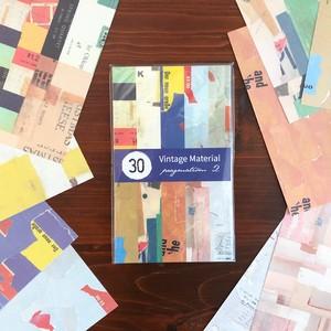 【海外文具】レトロなコラージュペーパー(10柄各3枚入)