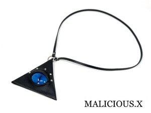 cat eye triangle coin case / deep blue