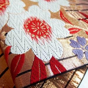 帯タペストリー 袋帯 桜・蝶紋様