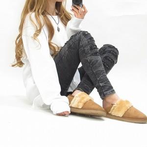ファー ムートンボア 靴 シューズ ブーツ 極上の履き心地★ キャメル