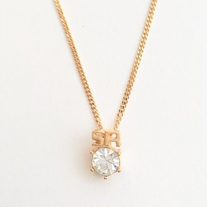 """""""SONIA RYKIEL"""" rhinestone necklace[n-236]"""