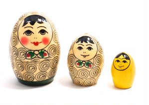 Egg Swirl Matryoshka 3 piece