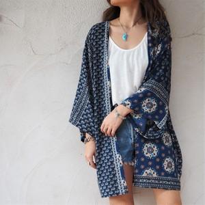 Chiffon Kimono Cardigan F《BLU》18383085-f
