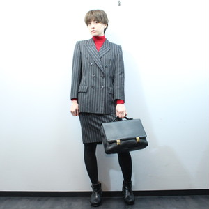 .YVES SAINT LAURENT STRIPE PATTERNED SET UP MADE IN JAPAN/yヴサンローランストライプ柄セットアップ 2000000032009