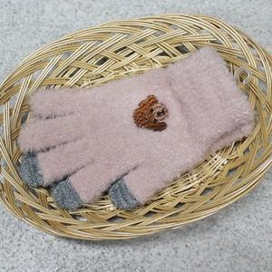 【トイプードル】スマホ手袋(ピンク)【ドッグ 犬柄 イヌ 犬雑貨】