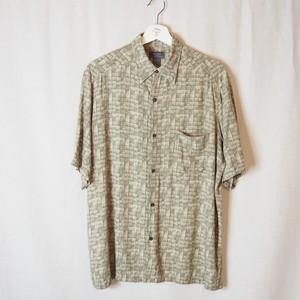Block Pattern Rayon Shirt