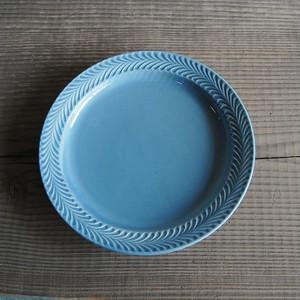 感器工房 波佐見焼 翔芳窯 ローズマリー リムプレート 皿 23.5cm ペイルグレー 332754