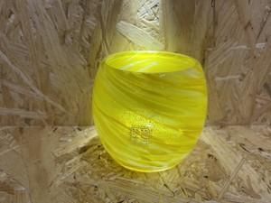 涼夏タルグラス 黄色  源河源吉琉球ガラス