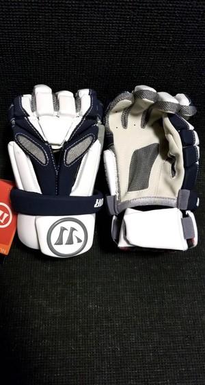 Warrior Burn Lacrosse Gloves '18 Model - White/Navy