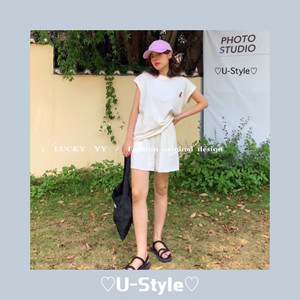 〔L.Y〕casual tops&shorts 2点セット