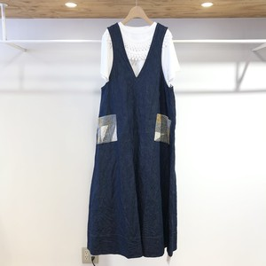 l'atelier du savon / パッチワークポケット ジャンパースカート