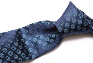 ○カルバン・クライン○洗練された濃紺お洒落柄ネクタイ