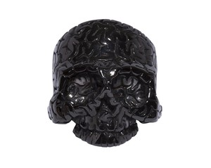 Surface Brain-Skull Ring  Black-Coating