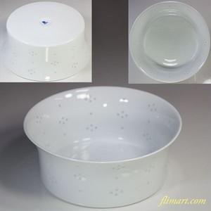 白山陶器蛍星華18cmボールT1689W