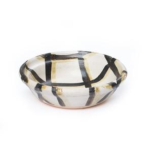 CANASA (カナサ)  格子柄耐熱皿 Sサイズ【ブラック】 (ボウル・丼ぶり・ろくろ碗・耐熱)