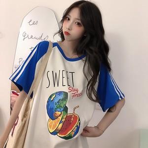 【トップス】少女感満点ins人気韓国風ゆったりbf合わせやすいTシャツ
