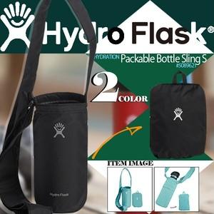 5089621 ハイドロフラスク 新作 ボトルスリング ボトルカバー 通販 旅行 運動 プレゼント 12-24oz用対応 黒 水色 シンプル 無地 ロゴ Packable Bottle Sling S Hydro Flask