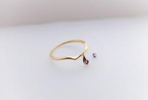 Serpente K10YG gold ring*アメジスト*2月誕生石(素材変更可能)