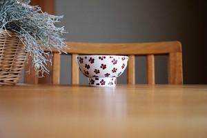 砥部焼/くらわんか茶碗(小)/赤小紋/すこし屋