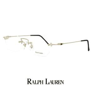 ラルフローレン メガネ rl713-pm 48mm Sサイズ 眼鏡 ralph lauren 軽量 メタル ツーポイント オーバル