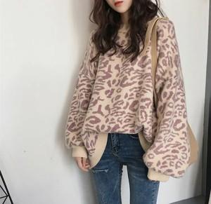 3color♡ 大人気のレオパード柄♡ ニット セーター レオパード柄 ヒョウ柄 オーバーサイズ  ボリューム袖