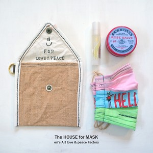 The HOUSE for MASK -マスクのおうちポーチ beige- LE-1333
