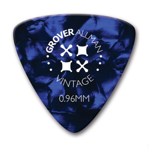 GROVER ALLMAN - Vintage Celluloid / Large Trianle / Blue / 0.96mm / 10枚セット