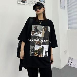 【トップス】韓国系ストリート系図柄半袖カジュアルシンプルTシャツ45280716