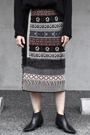 【leur logette】double jacquard knit skirt