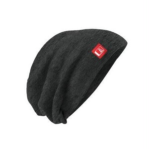 Slouch Beanie / Charcoal Red