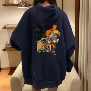 【トップス】ファッションプリント人気長袖フード付きパーカー25601939