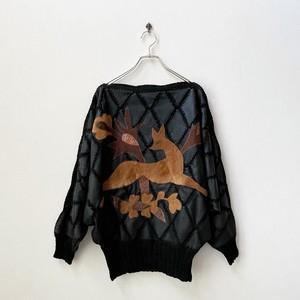 80年代 フォックスデザイン キルティングレザー  プルオーバージャケット アメリカ 古着 L