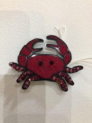 FashionDrug (ファッションドラッグ)アルメリア製 マグネット式 ブローチ CRAB