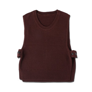 KNIT VEST / BROWN