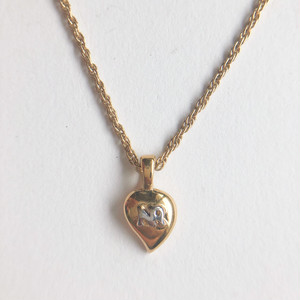 """""""NINA RICCI"""" gold heart necklace[n-287]ヴィンテージネックレス"""