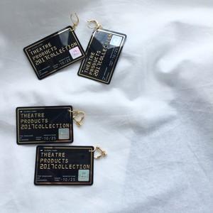 【NEW】THEATRE PRODUCTS ミニクレジットカードピアス / イヤリング