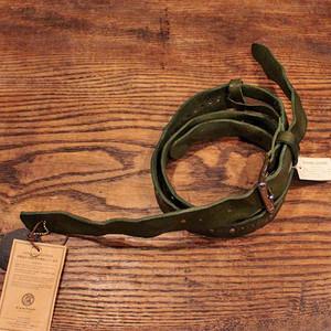 Studs Leather Strap / Dark green