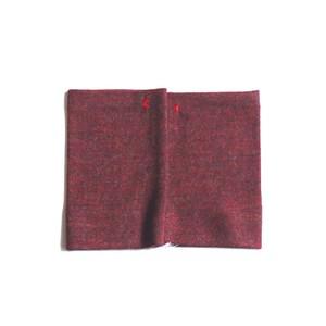 佩 リストマフラー(C/#10 杢レッド) ウール100%で手首暖か
