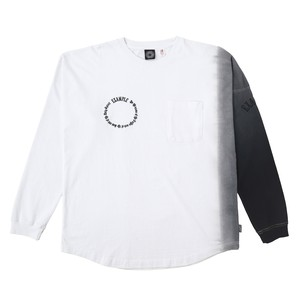 EXAMPLE TIE-DYE SLEEVE BIG L/S TEE / WHITE x BLACK