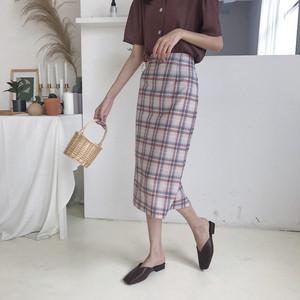 【お取り寄せ商品】pastel check skirt 6659