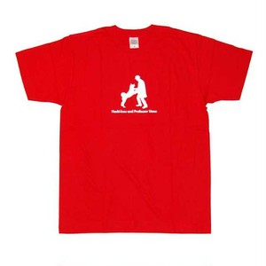 ハチ公デザインTシャツ レッド(赤)