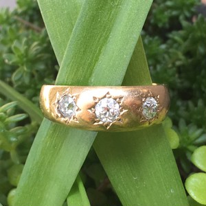 Gold Diamond Gypsy set Ring