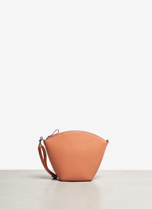 VACHETTA LEATHER CLUTCH WITH LONG STRAP