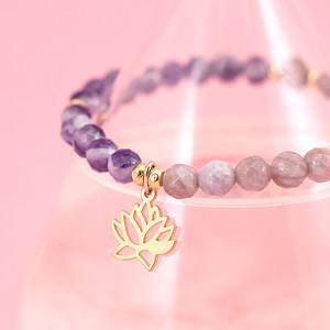 Lotus bracelet / Rudraksha PU