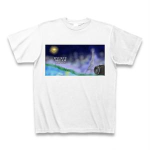 「夜霧に包まれたセーヌ川」Tシャツ