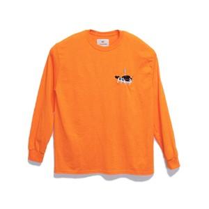 KUNCHI  TEE  LONG - safety orange  <KUJIRA>