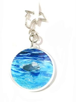 【アクリルキーホルダー】イルカのリング