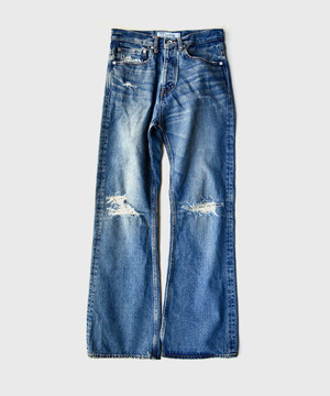 DAIRIKUDamage Flare Denim Pants Indigo