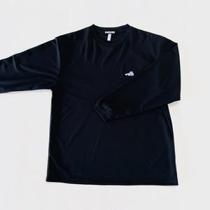 LOGO DRY LONG T-SHIRT / BLACK×UNIVERSITY BLUE